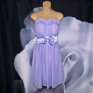 Dresses & Skirts - Lavender Dress With Ruffle Top and Bow